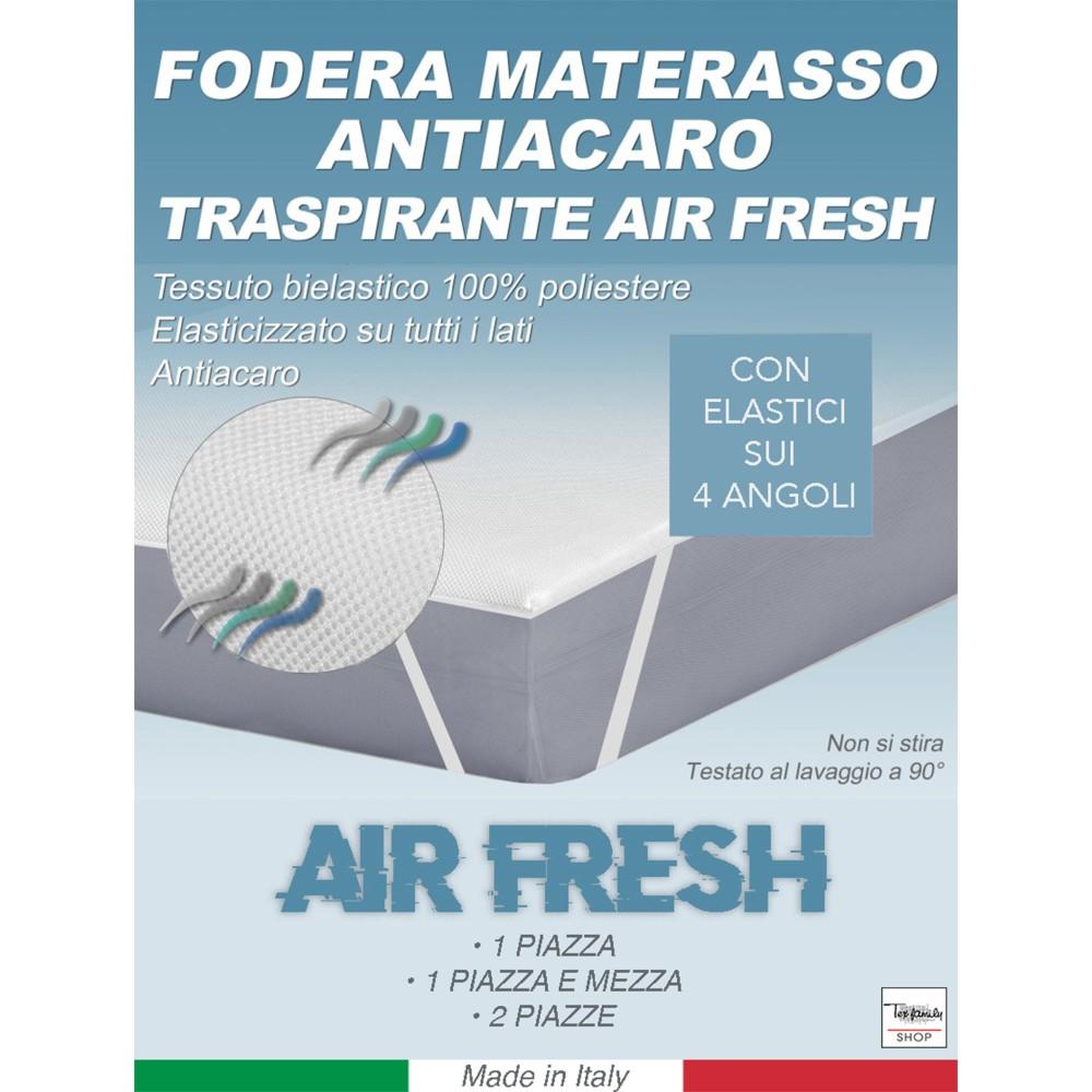 COPRIMATERASSO ANTIACARO TRAVERSA TRASPIRANTE AIR FRESH