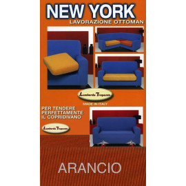 COPRIDIVANO NEW YORK  ARANCIO made in Italy