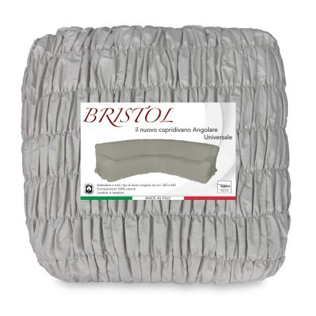 COPRIDIVANO ANGULAIRE UNIVERSELLE BRISTOL GRIS-BRUN ROYAUME-UNI