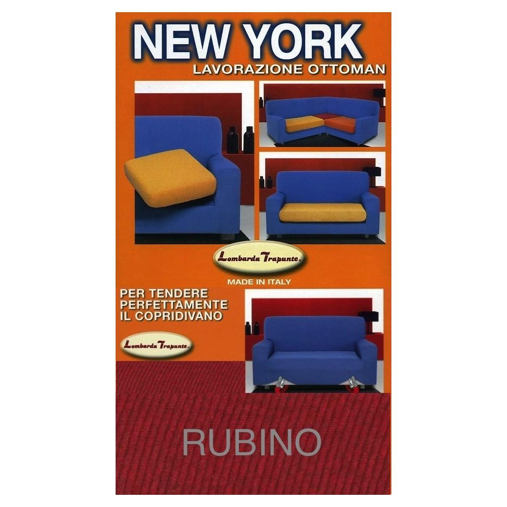 COPRIDIVANO NEW YORK RUBINO made in Italy