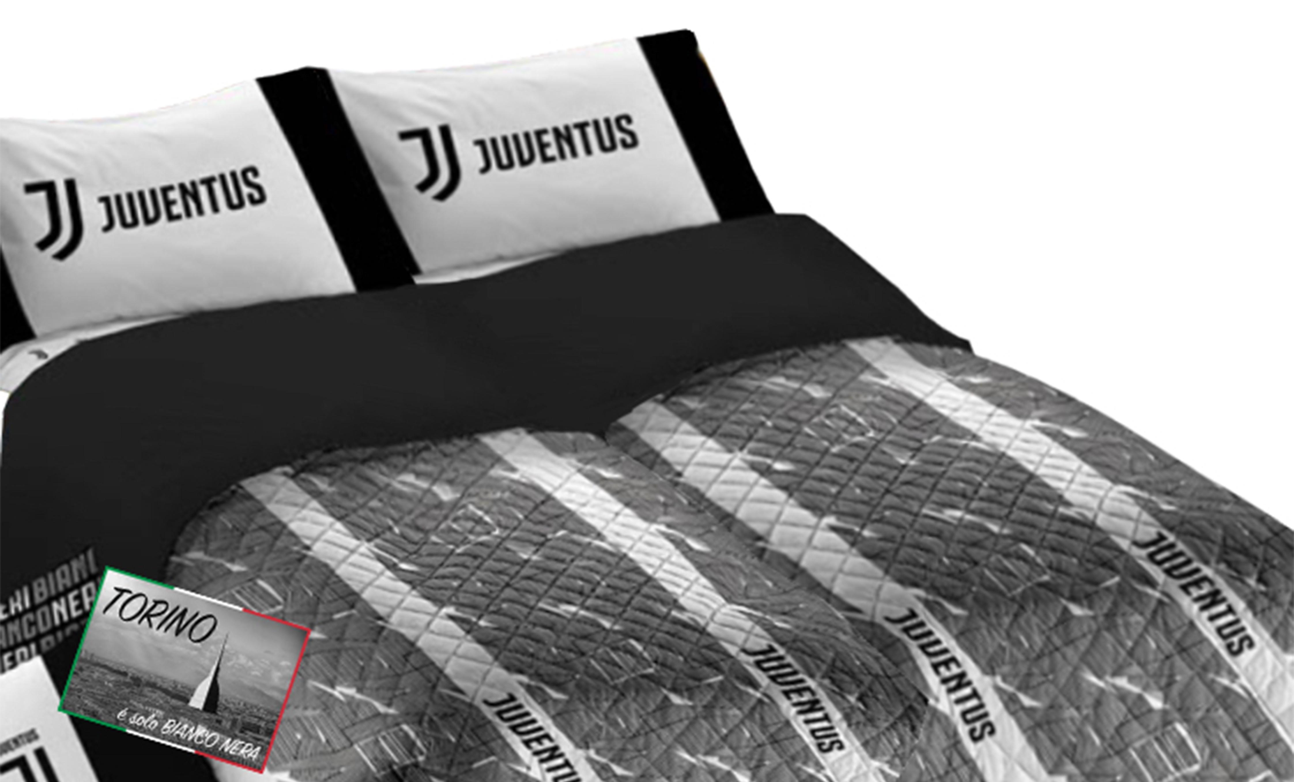 Lenzuola Matrimoniali Juventus.Copriletto Singolo Juventus Originale Leggermente Trapuntato