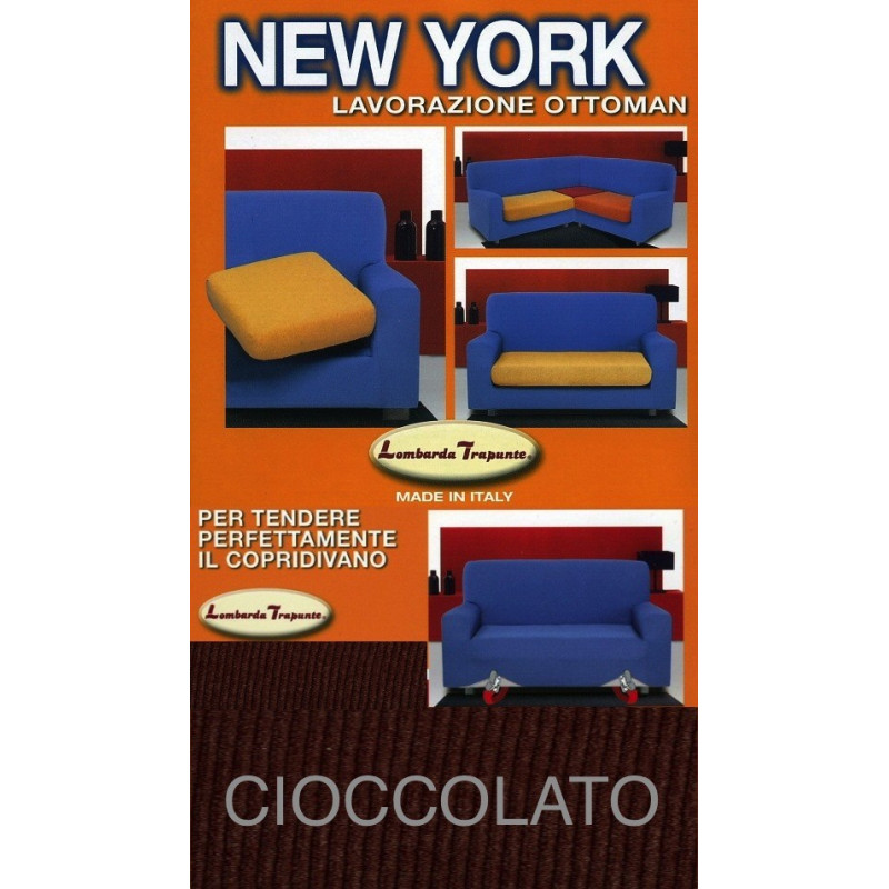 COPRIDIVANO NEW YORK CHOCOLAT fabriqué en Italie