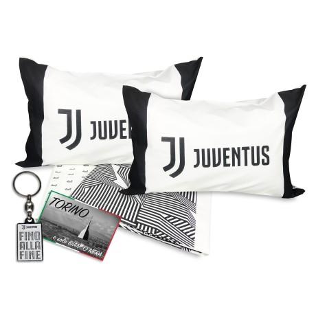 FEUILLE DOUBLE de la JUVE ORIGINALE de F. C. de la JUVENTUS de 2 PLACES AVEC porte-clés carte postale gratuit