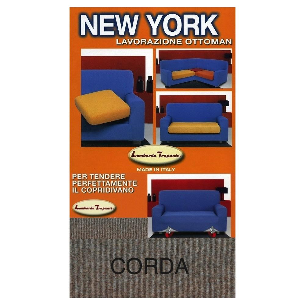 COPRIDIVANO NEW YORK CORDE fabriquée en Italie