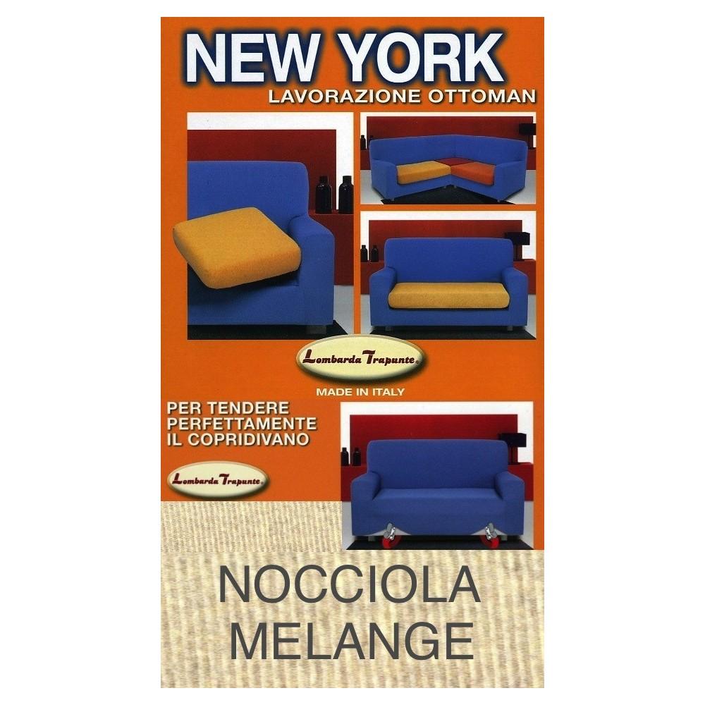 COPRIDIVANO NEW YORK NOISETTE MÉLANGE fabriqué en Italie