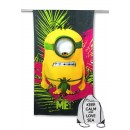 TELO MARE IN SPUGNA MINION DESPICABLE ME cm. 70x140 con zaino Spiaggia KEEP CALM