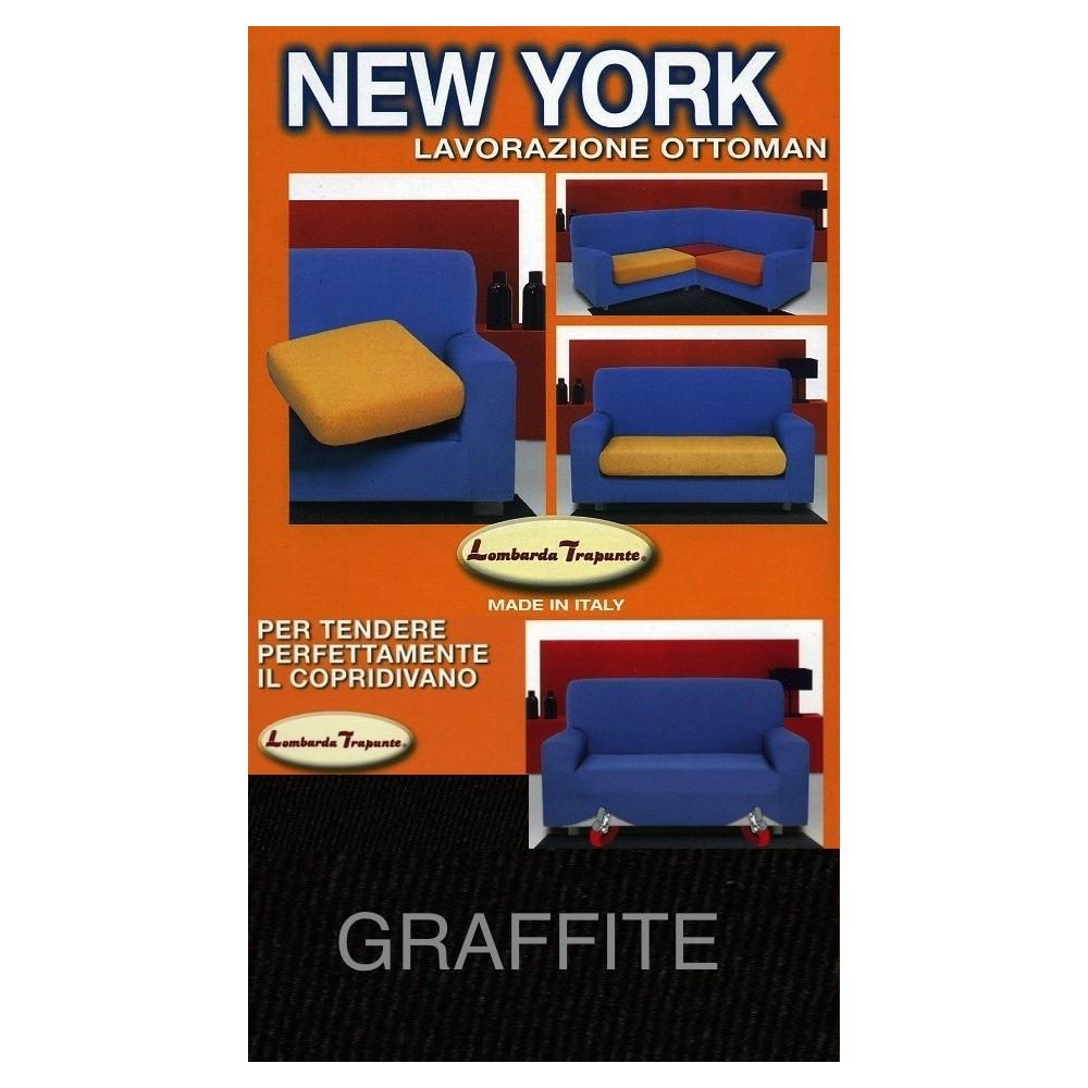 COPRIDIVANO NEW YORK GRAPHITE fabriqué en Italie