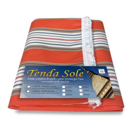 TENDA SOLE DA ESTERNO GIARDINO BALCONE RIGHINO ARANCIO CONFEZIONATA