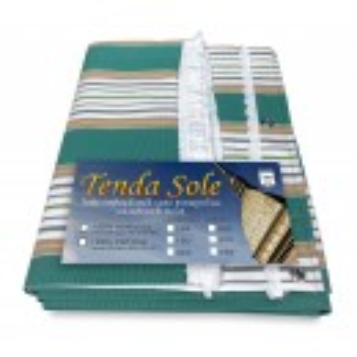 TENDA SOLE DA ESTERNO GIARDINO BALCONE RIGHINO VERDE CONFEZIONATA