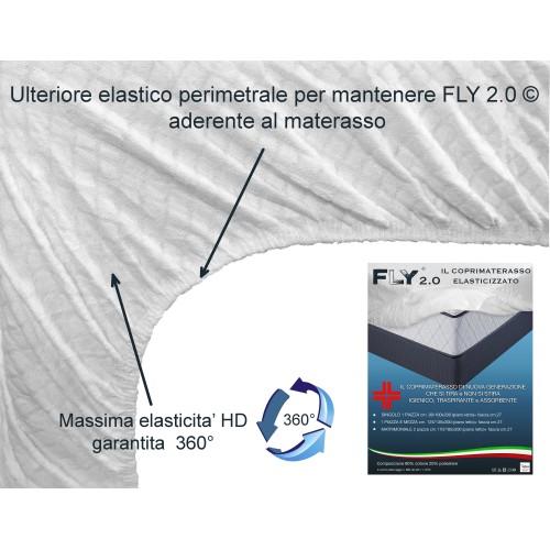 COPRIMATERASSO ELASTICIZZATO FLY 2.0 SPUGNA JACQUARD con angoli