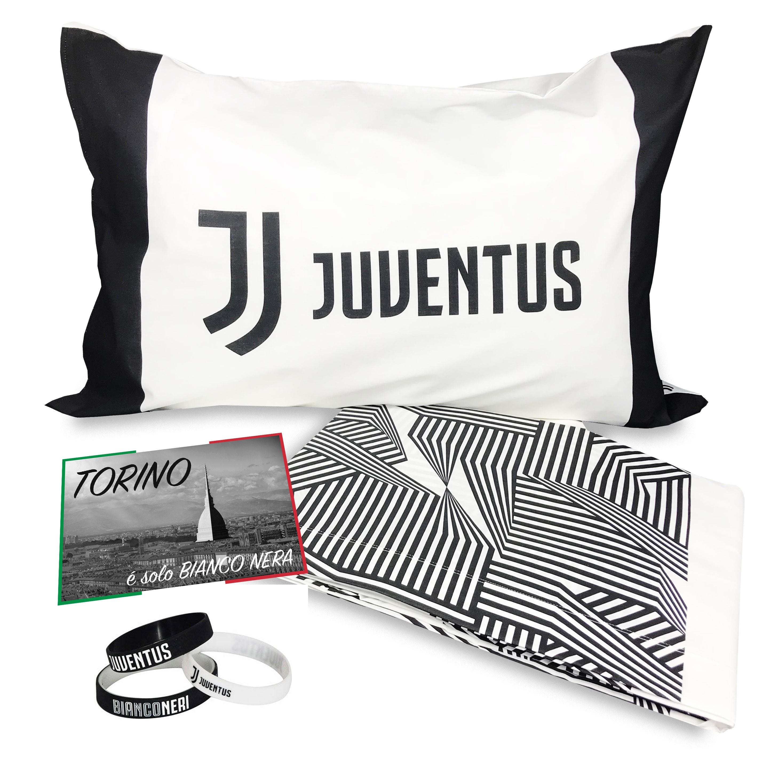 Copripiumino Singolo Milan.Copripiumino Singolo 1 Piazza Juve Ufficiale Juventus Bianco Nero