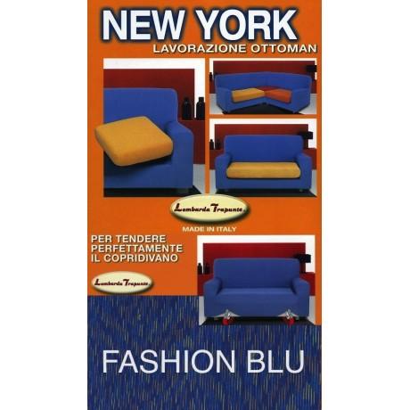 COPRIDIVANO NEW YORK FASHION BLU made in Italy