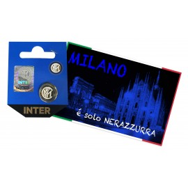 DISTINTIVO SPILLA IN METALLO  F.C. INTER e cartolina MILANO È