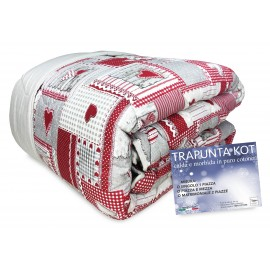QUILT KOT © TYROL APRICA ROUGE made in Italy en PUR COTON