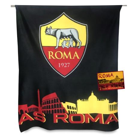 PLAID POLAIRE de ROME OFFICIEL de FOOTBALL d'ORIGINE des ROMS et de la carte postale de ROME EST à SEULEMENT
