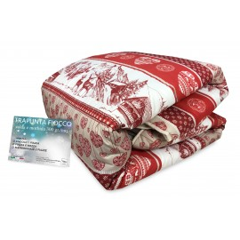 QUILT BOW © TYROL GERMAGNANO DUVET rouge made in Italy